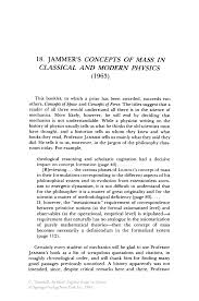 jammer u0027s concepts of mass in classical and modern physics 1963
