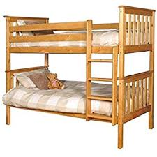 Bunk Bed With Mattresses Included Premium Pine Bunk Bed With A Caramel Finish With Mattresses