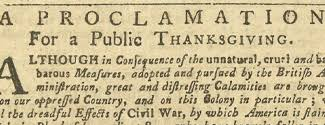 thanksgiving in 1775 1777 and 1779 journal of the american