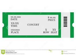 printable tickets template free template examples