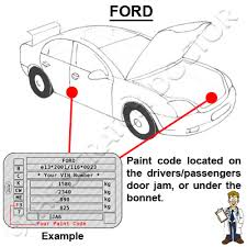ford focus colour code items in thescratchdoctor store on ebay