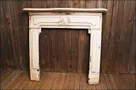 reserved wood fireplace mantel w white chippy paint hearth