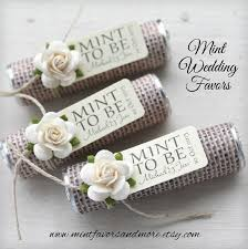 country wedding favors burlap wedding favor custom wedding favors mint to be mints