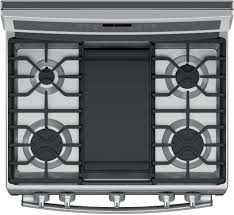 Cooktop With Griddle And Grill Ge Pgb911zejss 30 Inch Freestanding Gas Range With Chef Connect