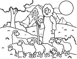 good shepherd lost sheep coloring pages kids env