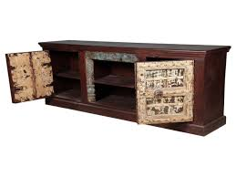 Distressed Wood Bar Cabinet Nottingham Distressed Reclaimed Wood Tv Media Console Cabinet