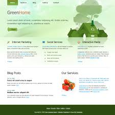 Free Green Template 324 Green Home