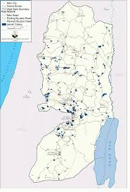 West Bank Map Monitoring Israeli Colonization Activities In The West Bank And