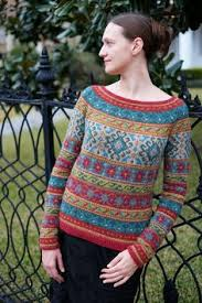 Free Northern Lights Sweater In Free Northern Lights Fair Isle Pullover Knit Pattern Knitting