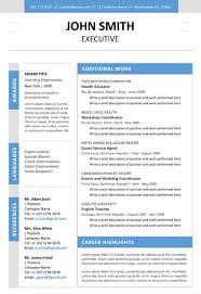 executive resume templates word executive resume template cover letter portfolio