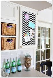 diy kitchen decor ideas one yard decor inset kitchen cabinet memo board and more in