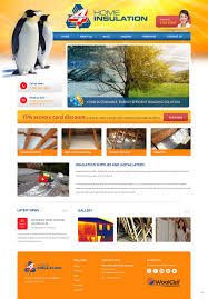 professional bold web design for 4 seasons home insulation by pb