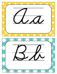 cursive alphabet letters for classroom use free turquoise and