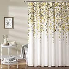 Yellow Curtain Lush Decor Lush D礬cor Weeping Flower Shower Curtain