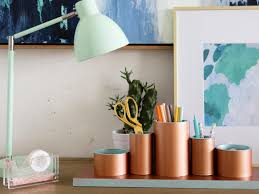Diy Desk Pipe by Tidy Up Your Office With This Chic Diy Desk Organizer Hgtv U0027s