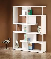 divider design alternating shelves design room divider white finish wood modern