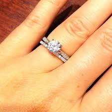 plain engagement ring with diamond wedding band solitaire ring with diamond wedding band mond solitaire engagement