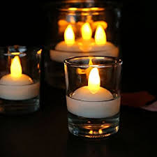 Vases With Floating Candles Amazon Com Flameless Led Candles Image 12 Piece Waterproof