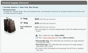 will air canada roll out bag fees for canadian flights travelupdate