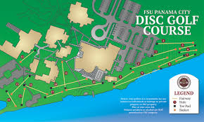Map Of Panama City Beach Florida by Disc Golf Fsu Panama City