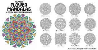 advanced flower mandalas coloring book by candy hippie on