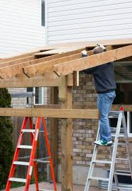 fastening a patio roof to the house patio roof patios and house