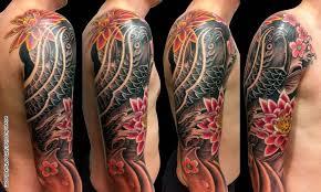 best one koi fish on sleeve tattooshunter com