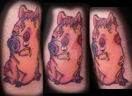 spider potter zombie pig tattoo by strawberrysinner on deviantart