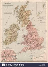 Ireland Rail Map British Isles Great Britain And Ireland Inset London Rail Stock
