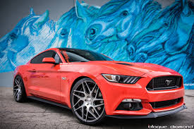 mustang 22 inch rims 2015 ford mustang fitted with 22 inch bd 3 s in graphite machined