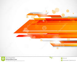 Orange Color by Abstract Bright Tech Background In Orange Color Stock Image