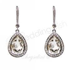 drop earrings wedding wedding large tear drop earrings wedding wish