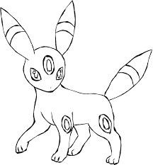 umbreon lineart free to use by hazeleyemedicinecat on deviantart