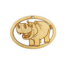 hippo ornament hippo gift hippo decor hippo