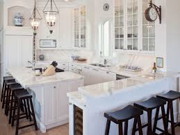 kitchen style white marble countertop u shaped coastal kitchen