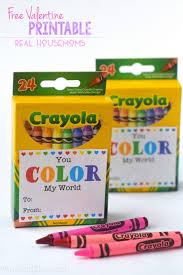 crayon valentines free printable real housemoms