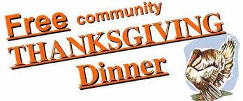 community thanksgiving dinner calendar ledger news