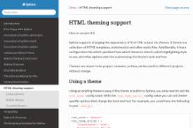 Html Themes Sphinx | html theming support sphinx 1 8 0 documentation