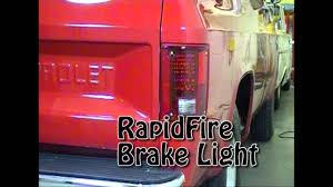 1986 chevy c10 tail lights 73 87 chevy gmc led pick up truck tail lights youtube