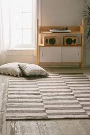 Grey Dhurrie Rug Gray And White Striped Rug Olin Grey Striped Cotton Dhurrie Rug
