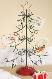 christmas holders standing metal christmas tree card holder from creative coop