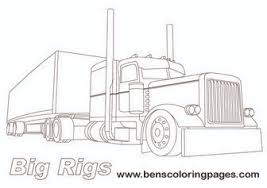 big rigs lorry coloring