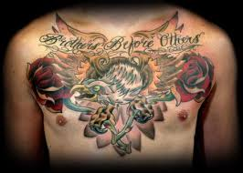 bald eagle roses traditional chest tattoos photo 2 photo