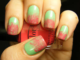 no nekkid nails watermelon sponge nails color club twiggie u0026 warhol