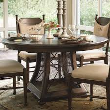 Ballard Designs Dining Chairs by Paula Deen Home 5 Piece Round Pedestal Dining Table Set Tobacco