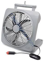 battery operated fans rp73002 road pro 10 inch 12 volt or battery powered fan 12 volts plus