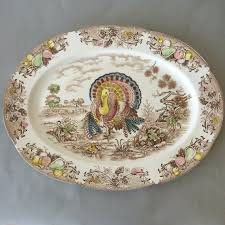thanksgiving platter vintage turkey platter brown transferware platter thanksgiving
