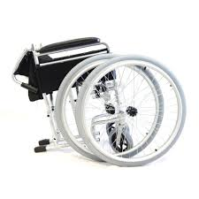amw002s lightweight aluminium self propelled folding wheelchair