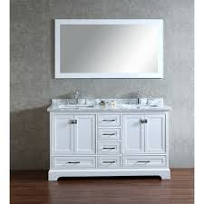 stufurhome white 60 inch double sink bathroom vanity set with
