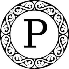 Letter Monogram Monogram Letter P Clip Art At Clker Com Vector Clip Art Online